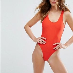 ASOS Red one piece swimsuit
